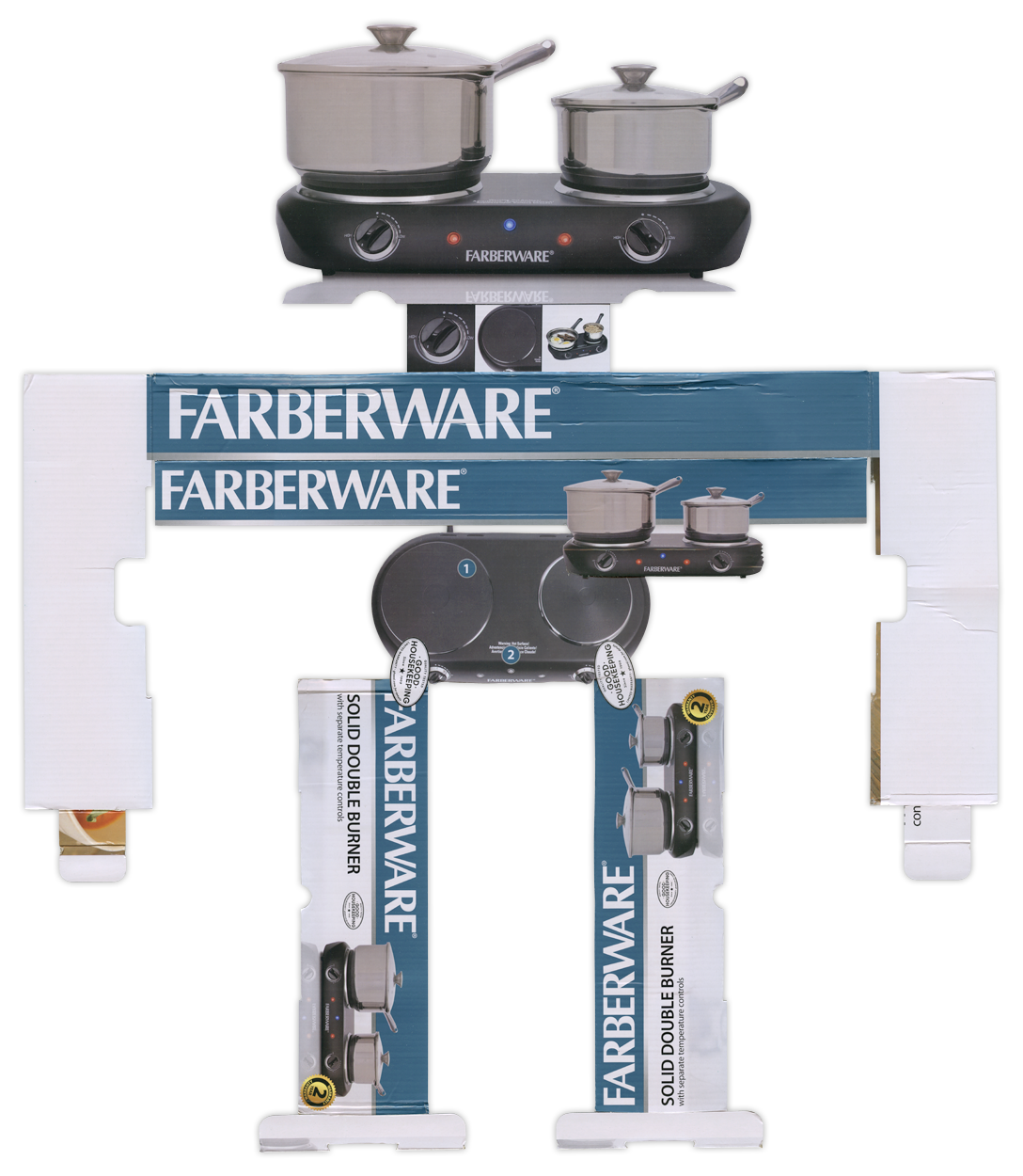 Farberware Solid Double Burner BoxBot