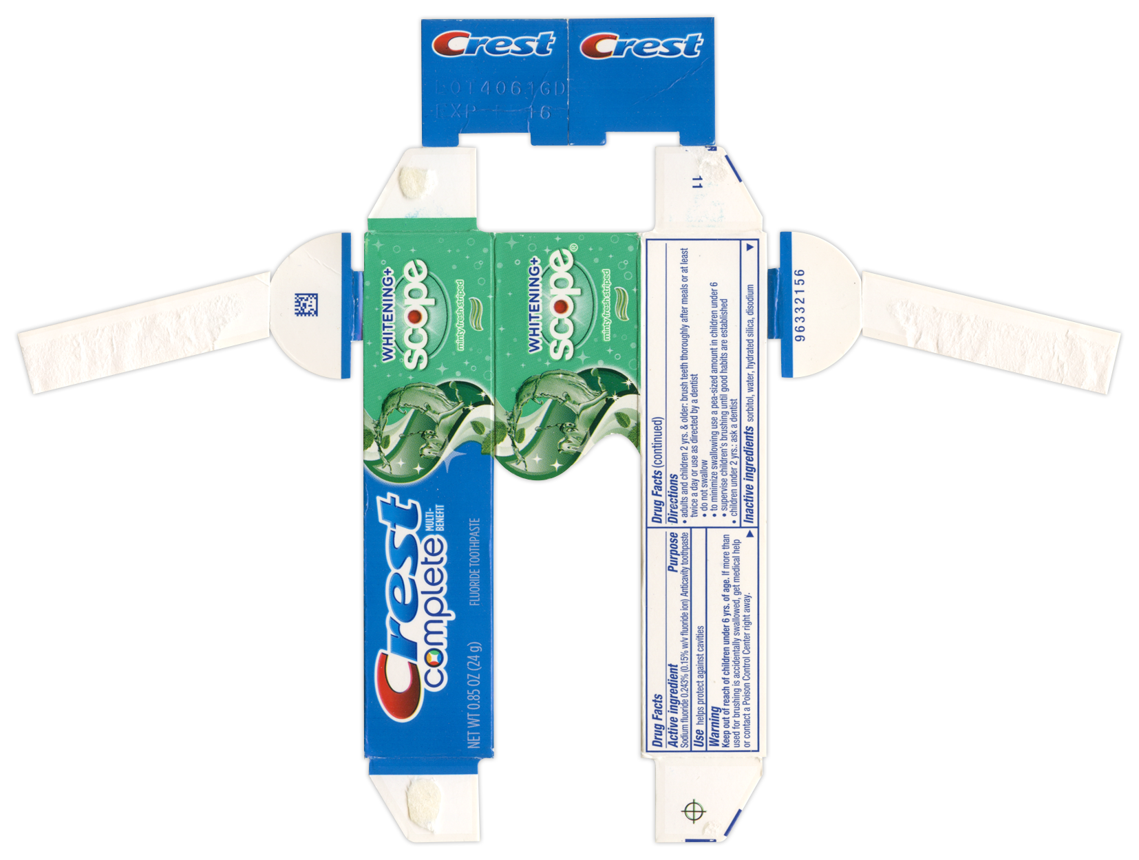Crest Complete Toothpaste BoxBot